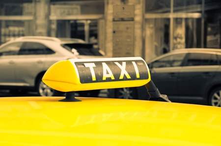 Taxi sign photo