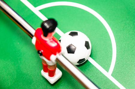 foosball: foosball, red player