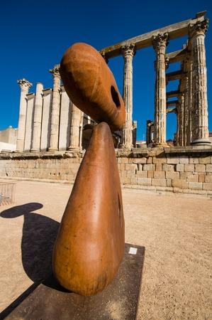 Diana temple in Merida, Spain photo
