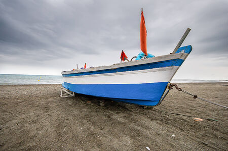 anchored: fishing boat