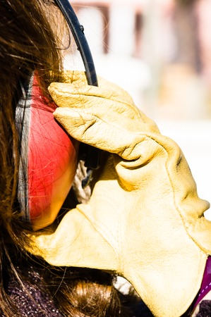 ear muff to protect workers ears  photo