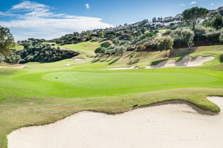 golf course in Mijas, Malaga, Spain photo