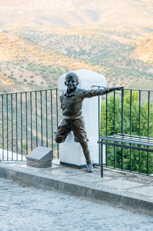PRIEGO DE CORDOBA, SPAIN - OCTOBER 13: Joselito sculpture on October 13, 2013 in Prigo de Cordoba, Spain. The town is on the northern slope of the Sierra de Priego. The population is near 24000.