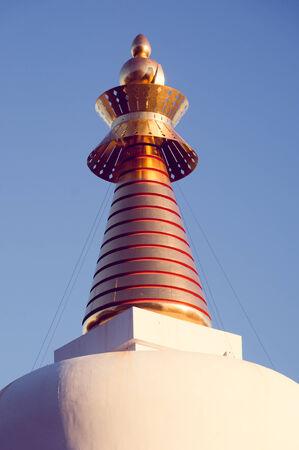 buddhist stupa: Estupa budista en Benalmadena, M�laga, Espa�a Foto de archivo