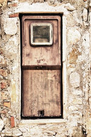 electricity meter: old electricity meter