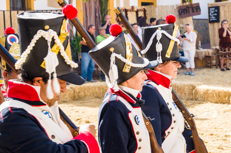 freedom fighter: MONTEJAQUE, SPAIN - OCTOBER 19: Puente Battle on October 19, 2014 in Montejaque, Malaga, Spain. It is a recreation of the battle that was in 1810. Editorial