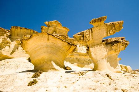 murcia: erosion on sandstone on Bolnuevo beach, Mazarron, Murcia, Spain