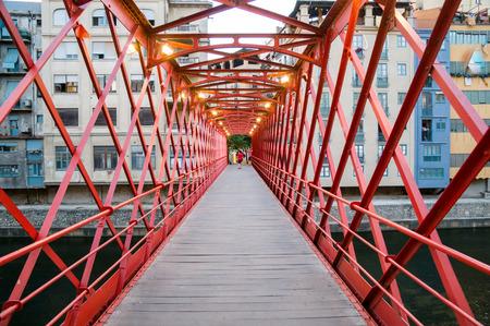 Eiffel Bridge in Girona, Catalonia, Spain