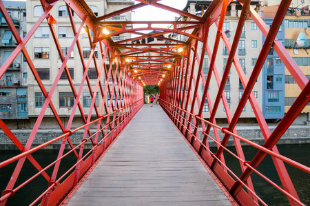Eiffel Bridge in Girona, Catalonia, Spain