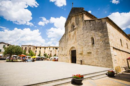 designated: BESALU, SPAIN - JULY 20: : View of historic center (medieval village) on July 20, 2014 in Besalu, Catalonia, Spain. Besalu was designated as a historical national property in 1966.