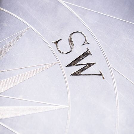 magnetic north: compass rose Stock Photo