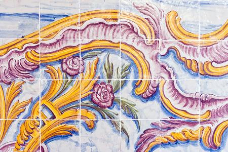 spanish style: vintage spanish style ceramic tiles wall decoration