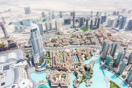 march 17: DUBAI, UAE - MARCH 17: Dubai skyline from Burj Khalifa on March 17, 2015 in Dubai, UAE. Burj khalifa is the highest building in the world.