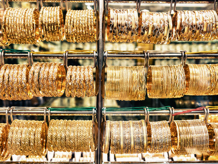 gold souk: DUBAI, UAE - MARCH 16: Dubai Gold Souk on March 16, 2015 in Dubai, UAE. This traditional market is located in the central commercial district of Dubai.