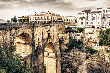 ronda: Ronda in Malaga, Spain Stock Photo