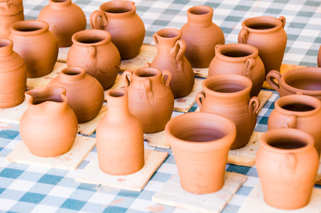 objects: clay objects Stock Photo