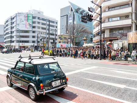 Harajuku: TOKYO, JAPAN - MARCH 21: Omotesando on March 21, 2015 in Tokyo, Japan. Omotesando is a very popular shopping street in Harajuku area. Editorial