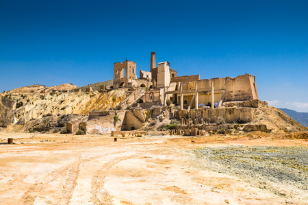 murcia: old mine in Mazarron, Murcia, Spain Stock Photo