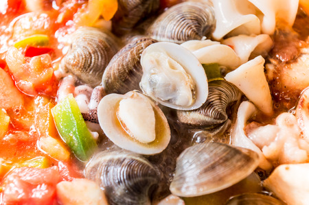typical: cooking paella, typical spanish food Stock Photo