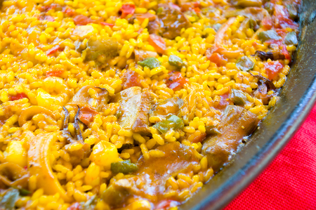 typical: paella, typical spanish food