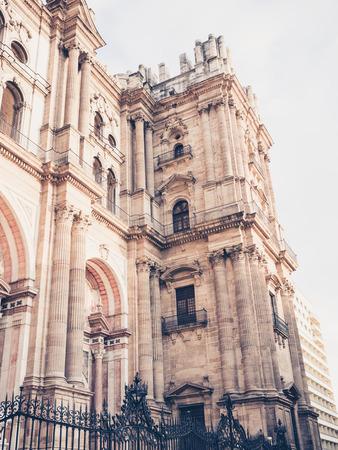 malaga: cathedral in Malaga, Spain