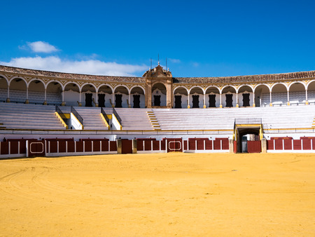 bullring: bullring in Antequera, Malaga Editorial