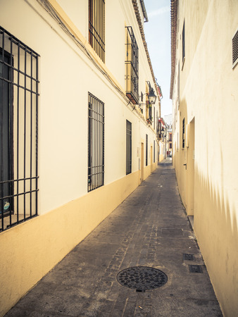 typical: typical street in Cordoba, Spain
