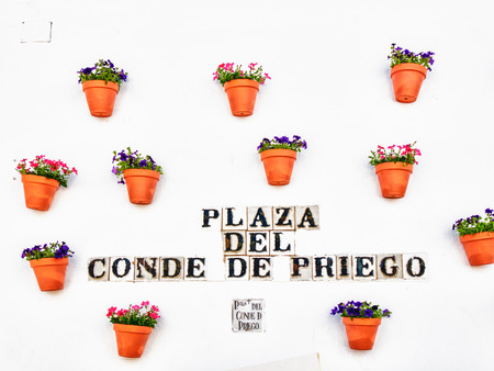 CORDOBA, SPAIN - MAY 08: Flowers Decoration during the Festival of the Patios on May 08, 2015 in Cordoba, Spain.