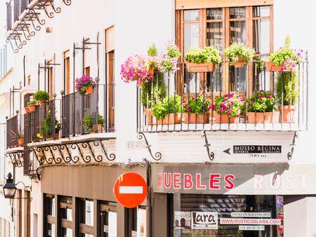 cordoba: CORDOBA, SPAIN - MAY 08: typical street on May 08, 2015 in Cordoba, Spain.