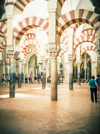 cordoba: CORDOBA, SPAIN - MAY 08: View of Cathedral Mosque on May 08, 2015 in Cordoba, Spain.
