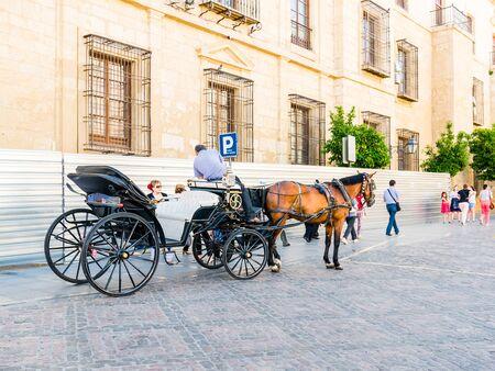 cordoba: CORDOBA, SPAIN - MAY 08: horse carriage on May 08, 2015 in Cordoba, Spain.  Editorial