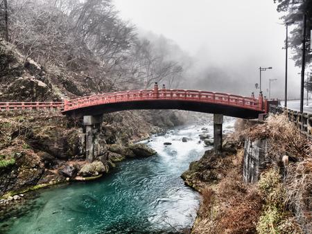 landscape architecture: Shinkyo Bridge in Nikko, Tochigi, Japan