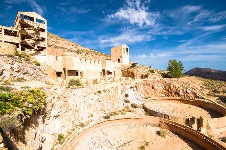 gold mine: old gold mine in Rodalquilar, Almeria, Spain Stock Photo