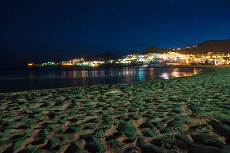 san jose: San Jose at night in Cabo de Gata, Spain