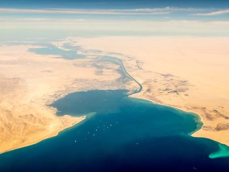 Suez Canal Archivio Fotografico