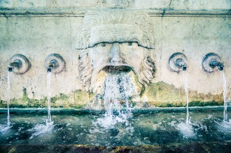 valencia: fountain in Xativa, Valencia, Spain Stock Photo