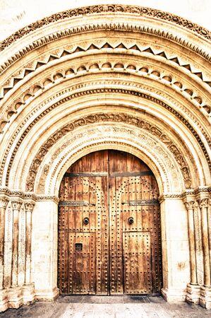 valencia: cathedral in Valencia, Spain Stock Photo