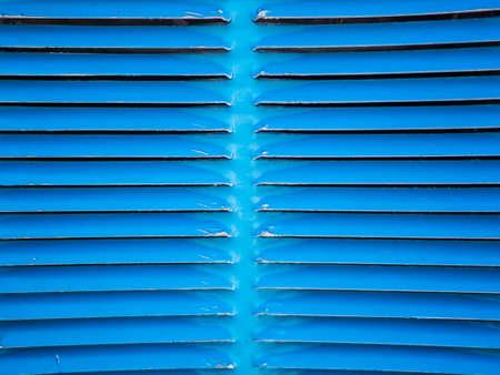 metal grid: blue metal grid