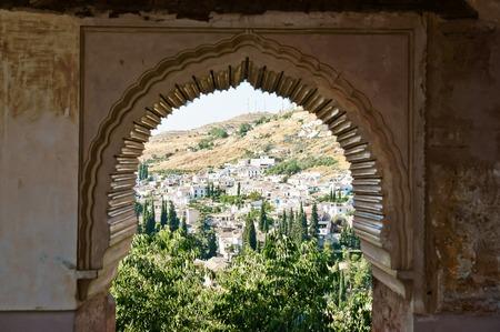 the  alhambra: Alhambra in Granada, Andalucia, Spain Editorial