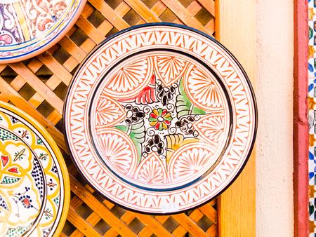plate: ceramic plate