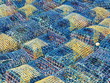 lobster pot: fish traps Stock Photo