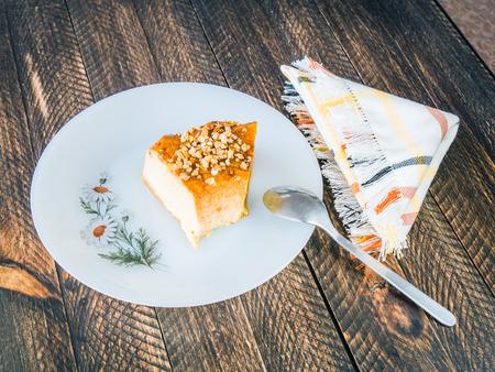 creme: nougat creme caramel Stock Photo