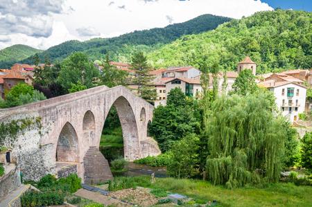 sant joan de les abadesses: Sant Joan de les Abadesses in Girona, Catalonia, Spain