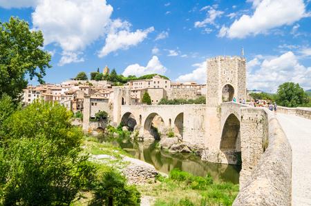 Besalu in Girona, Catalonia, Spain Stockfoto