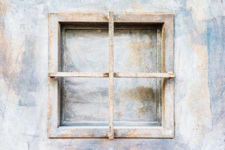 metallic: Rusty metallic window