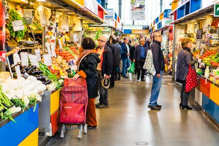central market: MALAGA, SPAIN - JANUARY 21: food at central market on January 21 in Malaga, Spain. It was renovated in 2010 and it was reopened on March 2011.