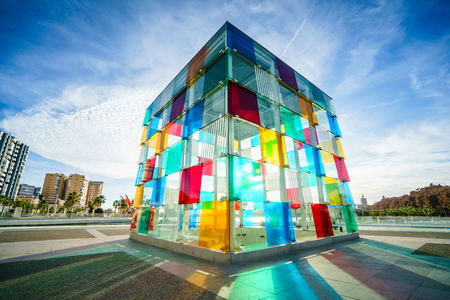 MALAGA, SPAIN - JANUARY 23: Pompidou centre on January in Malaga, Spain. It is the second most populous city of Andalusia and the sixth largest in Spain. Editorial