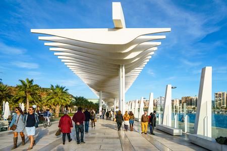 latticed: MALAGA, SPAIN - JANUARY 23: Palmeral de las sorpresas (Malaga port) in January 23 in Malaga, Spain