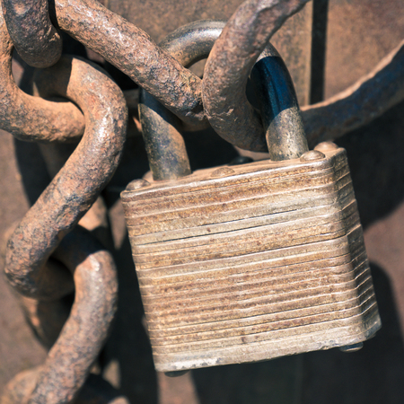 rustic: rustic padlock Stock Photo