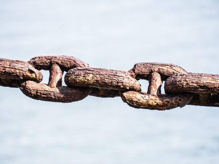 rustic: rustic chain Stock Photo